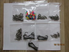 SEA FISHING TACKLE SET,make up to 25 rigs swivels beads bait clips hooks crimps