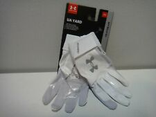 Under Armour Heatgear Yard Mens Baseball Batting Gloves Color White Size Small