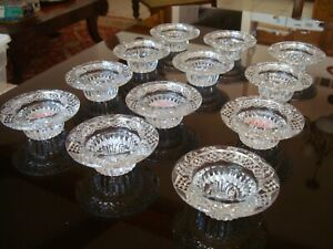 Crystal Clear Candle Tea Light Holder Set of 12. Weddings or Home Decor Table