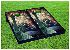 VINYL WRAPS Cornhole Boards DECALS USA New York Fireworks Bag Game Stickers 233