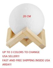 Moon 3D Printing Lamp 3 Colors 20 CM LED Night Lunar Light Moonlight Touch
