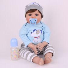 "22"" Handmade Reborn Baby Dolls Newborn Lifelike Silicone Vinyl Boy Dolls Xmas"