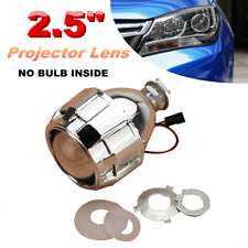 "2.5"" Mini HID Bi-Xenon Projector Lens Headlight H1 H4 H7 w/ Chrome Shroud Kit`"