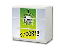 """""""Fußball"""" Aufkleber passend für Kommode IKEA MALM (3 Fächer) - M3K08"""