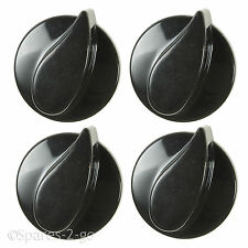 4 x BEKO Oven Hob Gas Control Knobs Black Cooker Flame Burner Switch Genuine