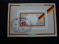 ALLEMAGNE RFA timbre yt bloc n°9 obl  - stamp germany