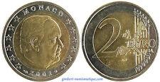 MONACO  ,  RAINIER III  ,  2  EURO  2001  ,  PEU  COMMUNE