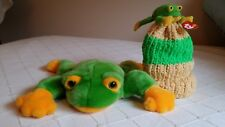 43bad157246 Smoochy ty Beanie BuddyTeenie Beanie Child s Hat Set Frog