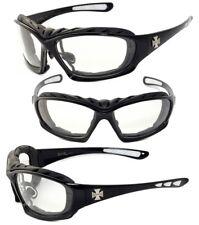 New Men Choppers Foam Padded Sunglasses - Black / Clear Lens C49
