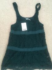 Brand New with tags Kimchi Blue lace dress, deep green, UK Size S