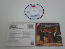 SUTHERLAND, HORNE, PAVAROTTI/LIVE FROM LINCOLN CENTER(DECCA 417 587-2) CD ALBUM
