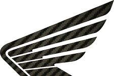 Honda Wing Carbon Fiber sticker graphic decal , motocross supercross cbr crf