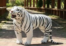 big simulation white tiger toy huge plush tiger doll about 112x72cm
