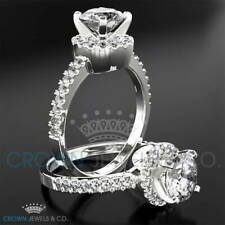 Promise Diamond Ring 1.20 ct Brilliant Cut Solitaire With Accents White Gold