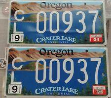 Oregon License Plates Crater Lake Centennial vintage set of 2