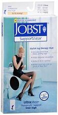 JOBST Knee High Stockings 8-15 mmHg Ultra Sheer Classic Black Sm 1 Pair