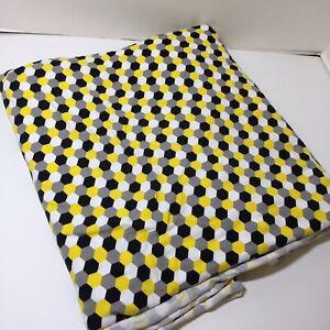 "3.25 Yards Laguna Jersey Knit Fabric 58"" wide Hexagons Cotton Spandex"