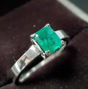 Natural Emerald rings Mens Emerald band Emerald wedding band Panjsher Emerald