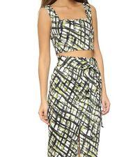 Ronny Kobo Crop Top Size XS Green Black White Nile Multi Rica Top Sketchy $188