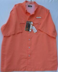 NEW !! Habit men's short sleeve button up river guide fishing shirt TS1156 large