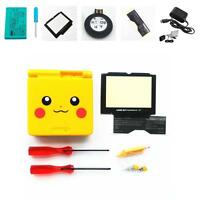 NEW GBA SP Game Boy Advance SP Replacement Housing Shell Screen Lens Pikachu!