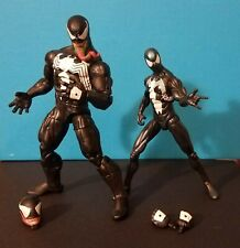 Marvel Legends Hasbro Venom and Black Suit Spiderman (2009) Action Figure Lot