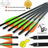 16''17''18''20''22'' Carbon Shaft Arrow Crossbow Bolts Tip Nock Archery Hunting