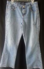BACCINI Blue Denim Jeans with Studs and Gems Size 10 P