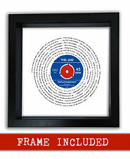 More details for the jam that's entertainment vinyl framed print valentines day gift personalised