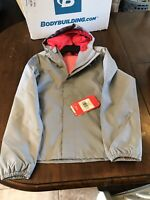 Girl's The North Face Resolve Reflective Jacket Size 10/12 Grey  with Hot Pink