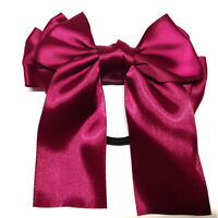 Cute Multicolor Satin Ribbon Bow Hair Band Scrunchie Ponytail Holder Bowknot