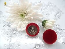 """Velvet Fabric Covered Buttons Deep Red """"ENGLAND"""" Metal color Silver size 23mm."""