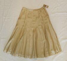 Pure DKNY Beige Tan Silk A-Line Midi Skirt Lightweight Sz 6 NWT $195 Donna Karan