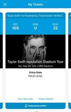 2 Taylor Swift Tickets Section 105 Row U (aisle)  HOUSTON 9/29/2018