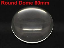 New Large Transparent Clear Round Flatback Glass Cabochon Dome 60mm