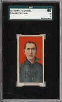 Rare 1909-11 T206 HOF Jake Beckley Sweet Caporal 350 Kansas City SGC 60 / 5 EX