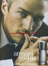 Giorgio Armani Armani Mania Fragrance 2003 Magazine Advert #86