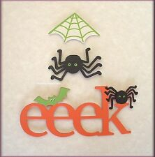 EEK WORD SPIDER WEB METAL MAGNETS SET OF 3 EMBELLISH YOUR STORY FREE U.S. SHIP