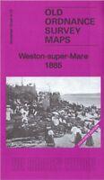 OLD ORDNANCE SURVEY MAP WESTON SUPER MARE 1885 KNIGHTSTONE SHRUBBERY WALKS