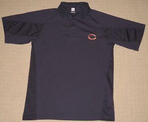 NFL Chicago Bears Short Sleeve SS Golf Polo Shirt  Medium Team Apparel Blue