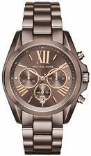 Women's Michael Kors Bradshaw Brown Steel Chronograph Watch MK6247