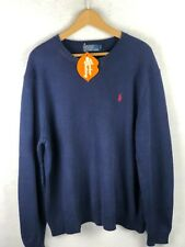 RALPH LAUREN Mens Jumper ATHLETIC CABLE KNIT Pullover Sweater XL EXCELLENT P92