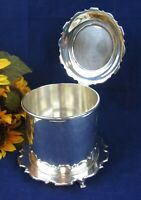 Rare 1930 Mid-Century Victorian Walker & Hall Sheffield Silver-plated Ice Bucket