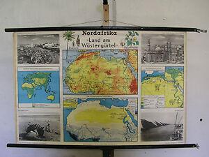 Schulwandkarte Wall Map Africa 100x65c Desert Wüstengürtel North Africa