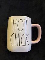 Rae Dunn By Magenta HOT CHICK Mug White W Pink Interior And Pink Handle Rare HTF