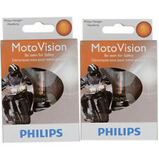 Two Philips MotoVision Halogen Light Bulb 9003MVS1 for 9003 HB2/H4 12V tk