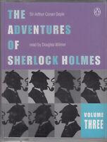 Adventures of Sherlock Holmes Vol Three Arthur Conan Doyle 2 Cassette Audio Book