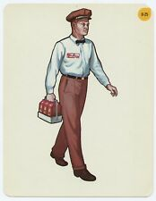 Vtg 1966 Peabody Language Development Kit Card #0-25 Milk Man