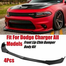 For Dodge Charger RT SRT SXT Front Bumper Lip Body Kit Spoiler Splitter Gloss