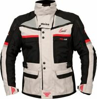 Weise Dakar Waterproof Thermal Motorcycle Motorbike Adventure Jacket Black Stone